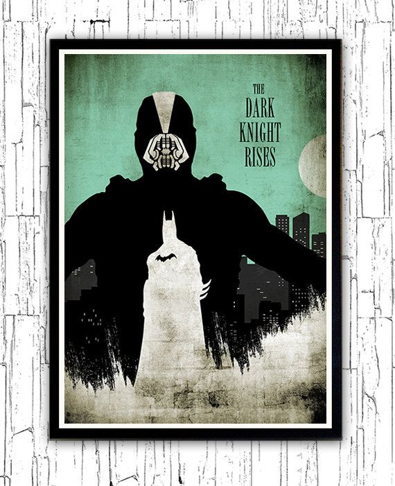 Vintage Bane Batman The Dark Knight Rises Minimalist by moonposter