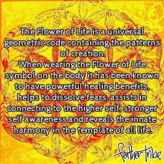 Flower of Life Pendant Sacred Geometry Festival Jewelry