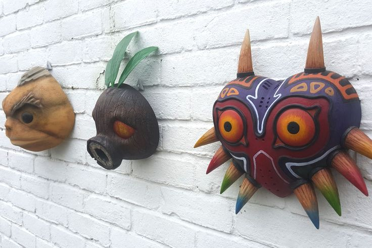 These gorgeous Legend of Zelda masks are home decor for the super fan