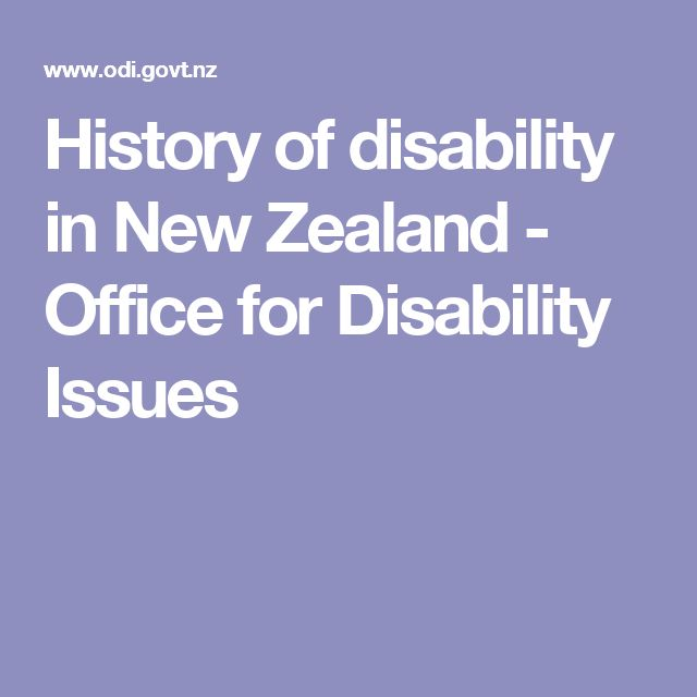 History of disability in New Zealand - Office for Disability Issues