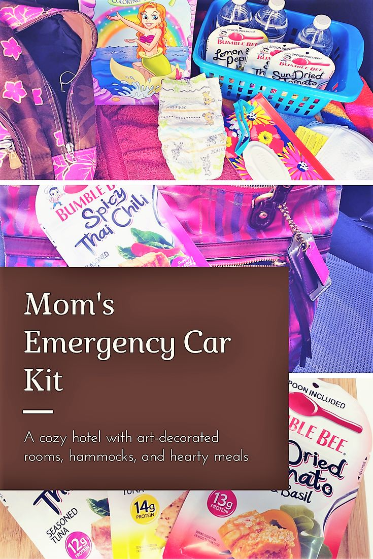 (AD) Mom's Emergency Car Kit. What to keep in your car in case of an emergency.