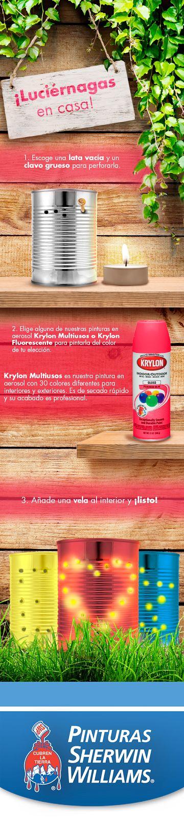 #EstoPintaBien ¡Luciérnagas en casa! Arma estas sencillas farolas utilizando material reciclado e ilumina tus noches.