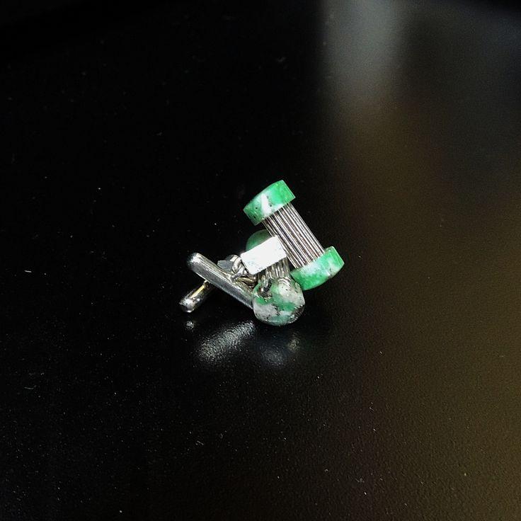 Mancornas elaborada en plata 950 con esmeralda tipo morralla. MANE001 Precio COP $527.000 Contactanos www.makla.co   Cufflinks / Colombian Emeralds / Sterling Silver