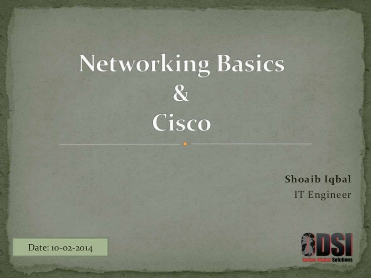 This presentation contains Networking Basics Concepts and basic topologies of Computer Networking discussed. Also gives information about Cisco History.