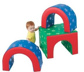 The Tunnel Trilogy Soft Play Shapes are three small movable shapes that enhance spatial awareness. #active #play #fun #kids #toddler #preschool #fitness #family #moms #dads