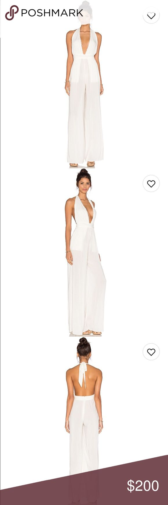 Sexy Jumpsuit Halter tie cream jumpsuit , very sexy !! Open back The jetset diaries Other
