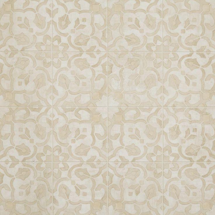 "A 6"" Luxury Vinyl Tile Floor Design With A Vintage Floral"