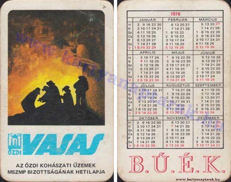 1978 - 1978_0930 - Régi magyar kártyanaptárak