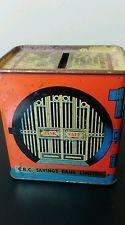 Vintage CBC Savings Tin Money Box from 1960s
