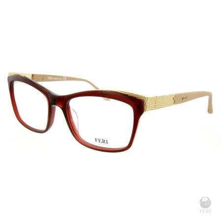 FERI - Seattle Beige - Optical - Brown acetate optical glasses - Made with metal and acetate - FERI logo on both outer arms - Rectangular frame shape - Comes with non-prescription plano Lens - Incredibly unique styling will turn heads  *FERI Optical glasses DO NOT come with prescription lenses. Please take the frames to your Optician to have your custom prescription lens installed.*  Invest with confidence in FERI Designer Lines.