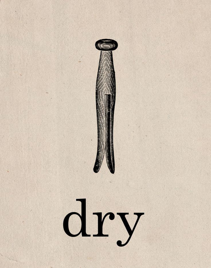 Dry Laundry Room Printable