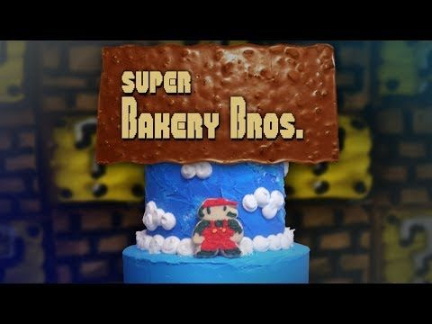 Super Mario Brothers On A Cake - http://ploud.org/super-mario-brothers-on-a-cake/