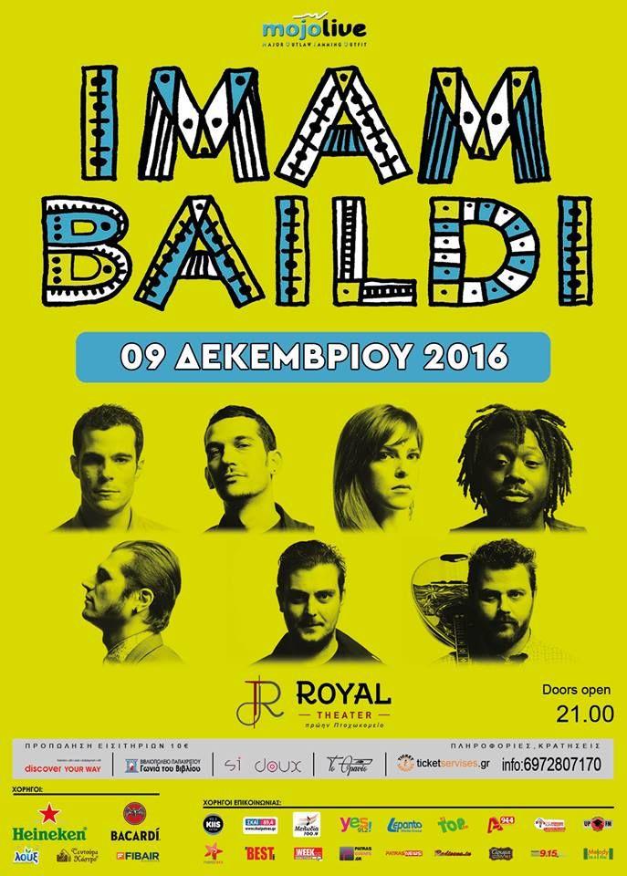 Είστε έτοιμοι; 9/12: Πάτρα, Royale  16/12: Πλατεία Θήβας, Λευκή Νύχτα 17/12: Περαία Δήμου Θερμαϊκού 24 & 25/12: Λάρνακα, Ammos Beach Club... #imambaildi και πάλι #ontheroad