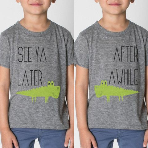 2 TEE SET - SEE YA LATER ALLIGATOR / AFTER AWHILE CROCODILE BFF SHIRTS – Mag+Pie #bestfriends #giftideas #photographyprops