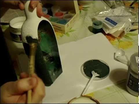 Обратный декупаж мастер класс ( декор бутылки ) / DIY reverse decoupage ( decoration bottle ). - YouTube