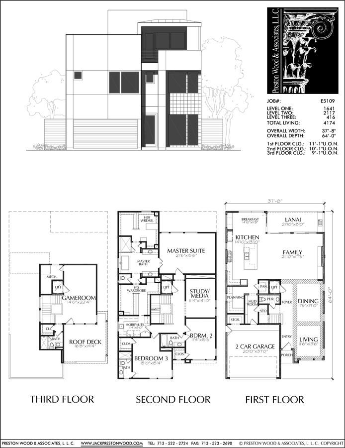 Luxury Home Photos New Custom Homes With Swimming Pool 2 Story Floor Preston Wood Associates House Plans Two Story House Plans Modern House Plans