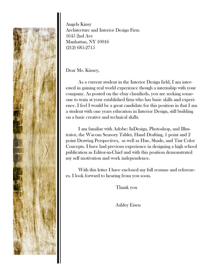 Interior Designer Cover Letter Example Breakupus Sweet Graphic