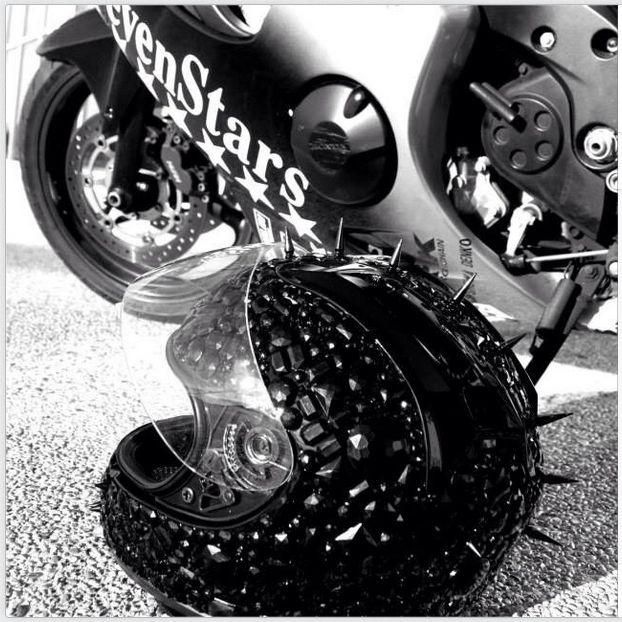 black crystals motorcycle helmet