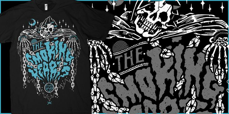 """The SMOKING HEARTS- Grim Creeper"" t-shirt design by Craig Robson"