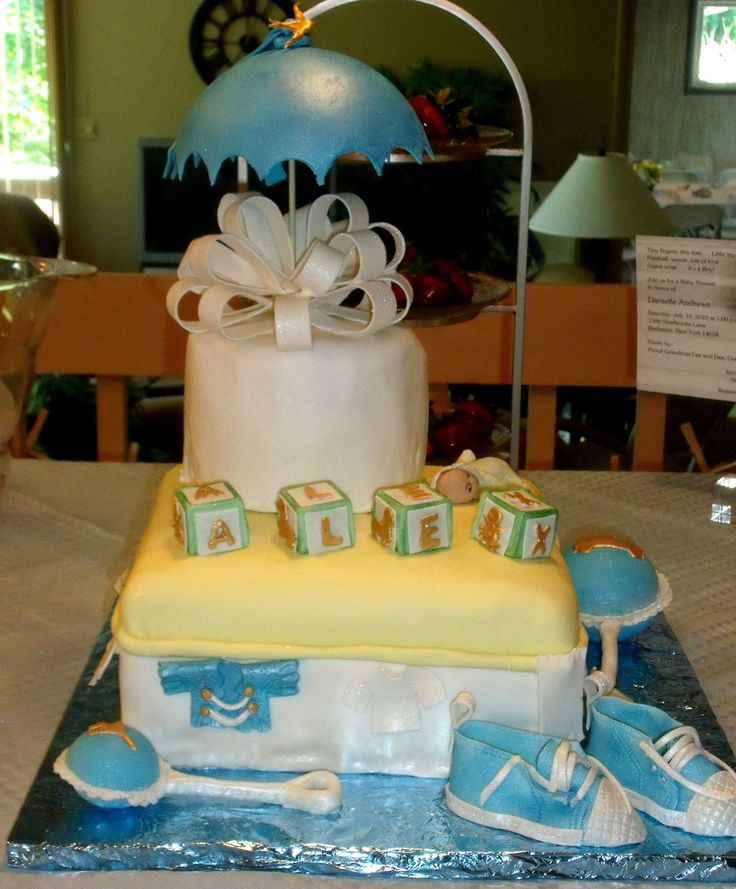 Marvelous Baby Shower Cakes Calgary Part - 12: Baby Shower Umbrella Cake