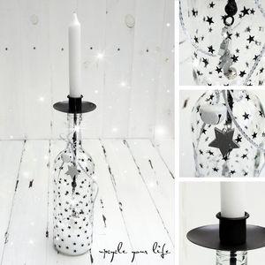 flaschen upcycling... den passenden kerzenhalter für flaschen findet ihr hier: http://sabrina-temmen.eshop.t-online.de/Flaschenkerzenhalter
