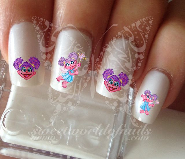 Abby sesame street Nail art Water Decals Transfers