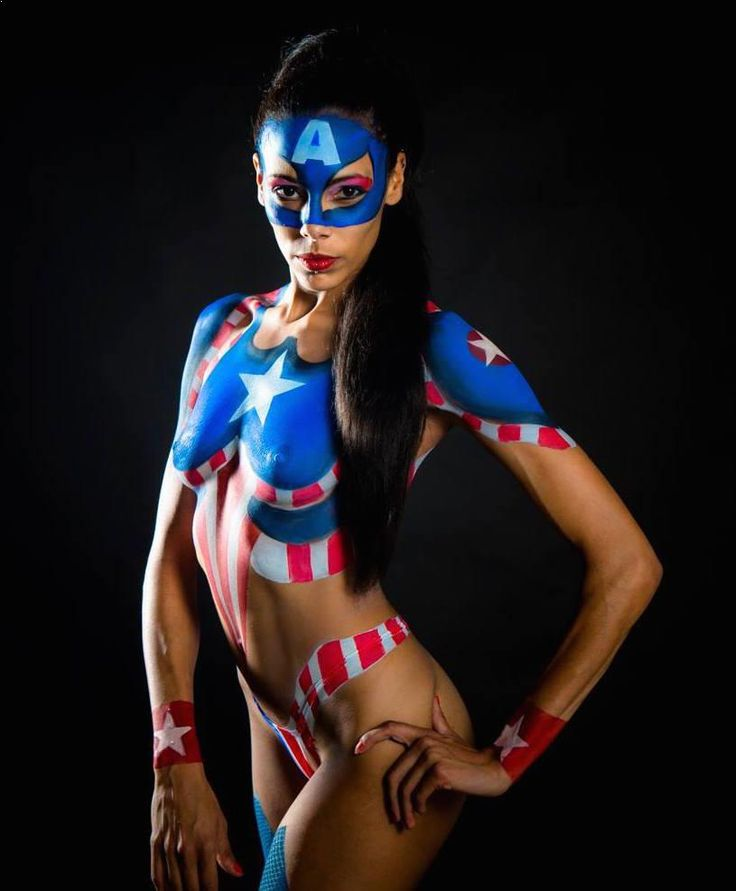 25 best female superheroes in body paint images on for America s finest paint
