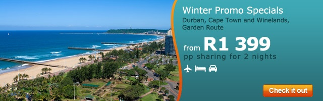 Winter Promo Specials - Cape Town, Durban, Winelands, Garden Route