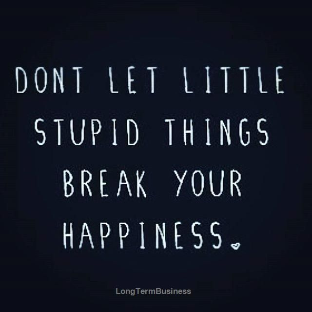 Dont Let Little Stupid Things Break Your Happiness Frases