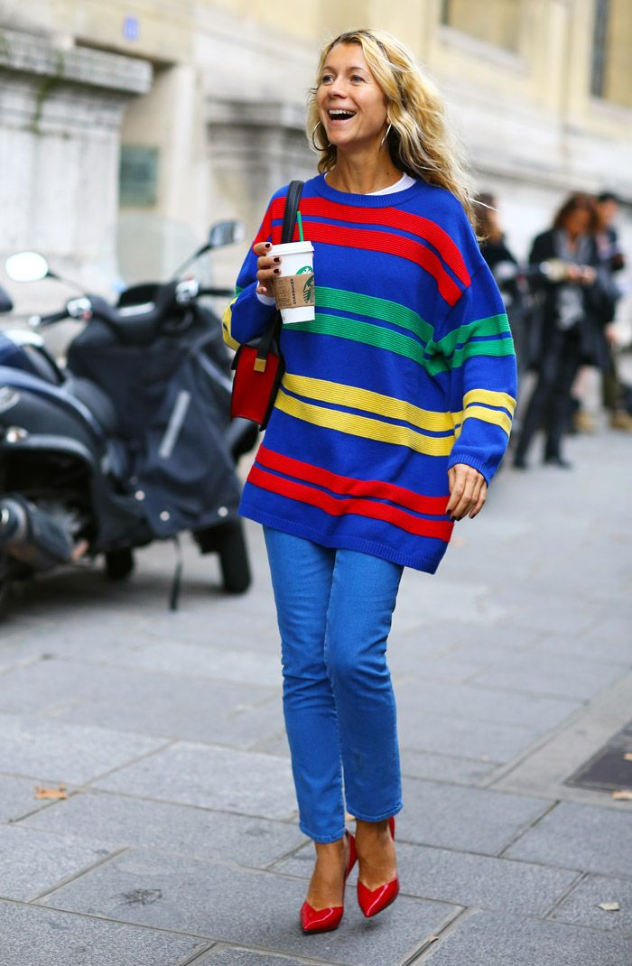Striped Natalie Joos   Street Fashion   Street Peeper   Global Street Fashion and Street Style