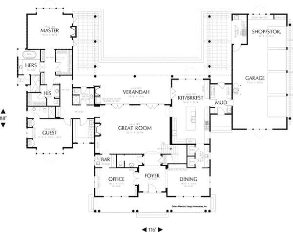 First floor master craftsman home plans thefloors co for Craftsman house plans first floor master