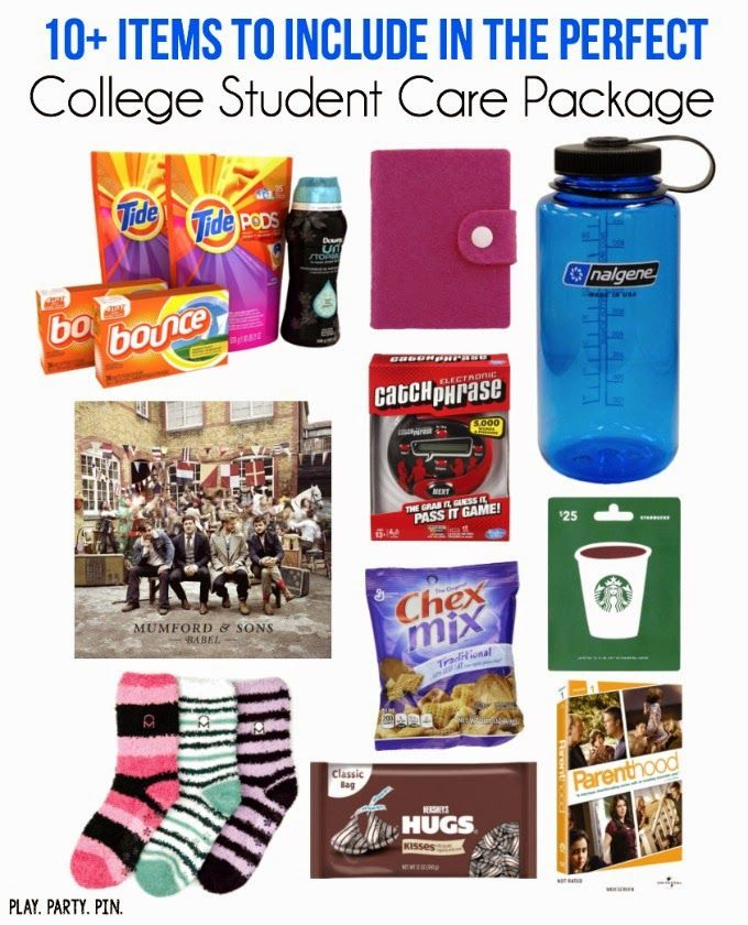 Know a college student? Use this list to put together the perfect college student care package to make their day!