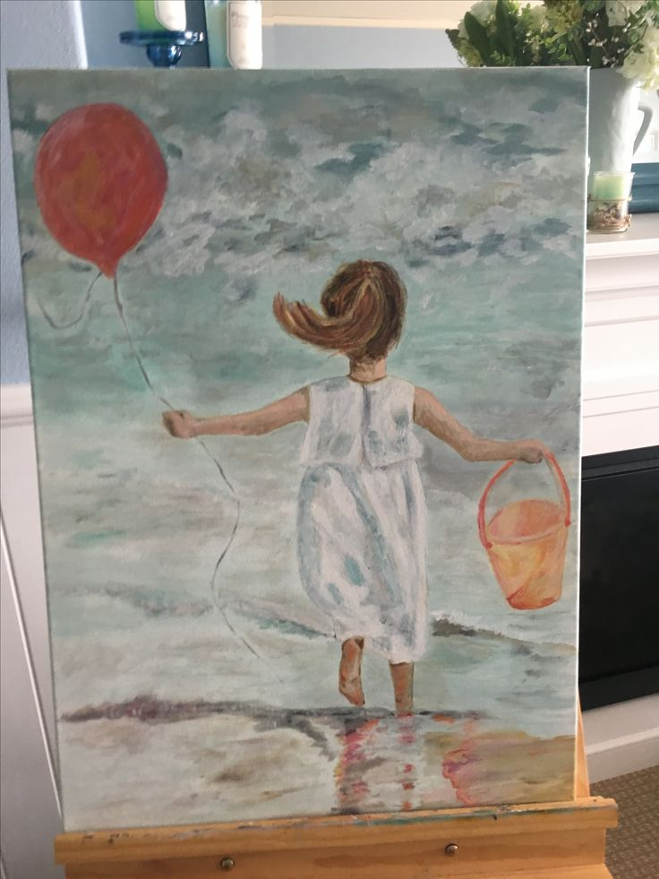 Love my little girl with bucket and balloon at beach. This is my favourite so far. Just a few more details to do on her
