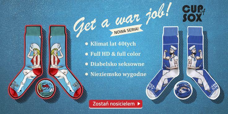 Edycje specjalne > Get a war Job!  [|] #cupofsox #skarpetki #skarpetka #socks #sock #womensocks #mensocks #koloroweskarpetki [|]