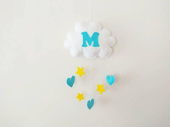 Check out this item in my Etsy shop https://www.etsy.com/listing/258340836/baby-mobile-baby-initialname-mobile