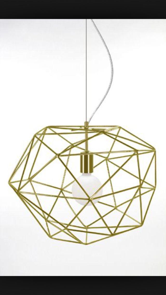 Diamond lampa i mässing