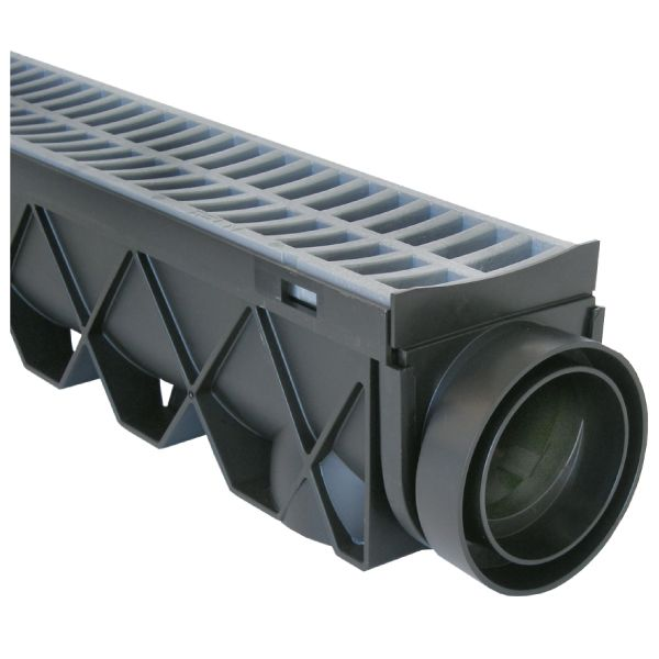 Trench channel rain drains the complete surface water for Outside drainage system