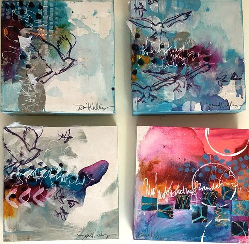 Sharing some small paintings done with new paint colors...