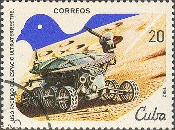 """Znaczek: """"Lunokhod-1"""" (USSR), 1970 (Kuba) (UNISPACE 82) Mi:CU 2653,Yt:CU 2356"""
