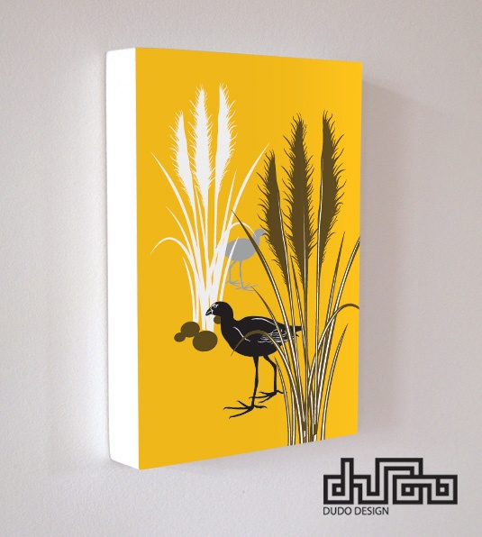"Nature range-Art block ""Pukeko & Toi Toi"" by DUDO"