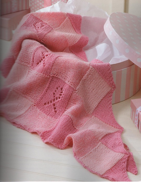 Breast Cancer Dishcloth Knitting Pattern : Ravelry: Knitting For A Cure Entrelac Shawl pattern by Kay Meadors Projects...