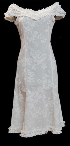 Maui Wailea Midlength Wedding Dress, Jade Fashion - Aloha Wear Clothing Store