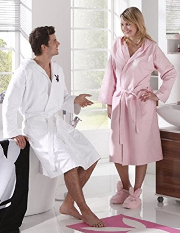 playboy damen bademantel rosa mit tasche gr sse s m l xl neu fanartikel pinterest playboy. Black Bedroom Furniture Sets. Home Design Ideas