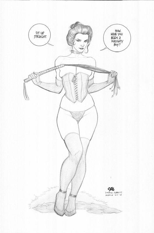 Black Queen (Jean Grey) by Frank Cho Comic Art