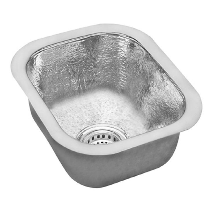 bar sinks stainless steel | Elkay Gourmet Hammered Mirror Single-Basin Stainless Steel Undermount ...