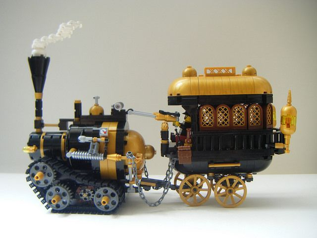 lego steampunk meat wagon | by redfern1950s