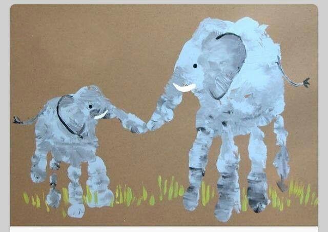 Handprint Elephants :)