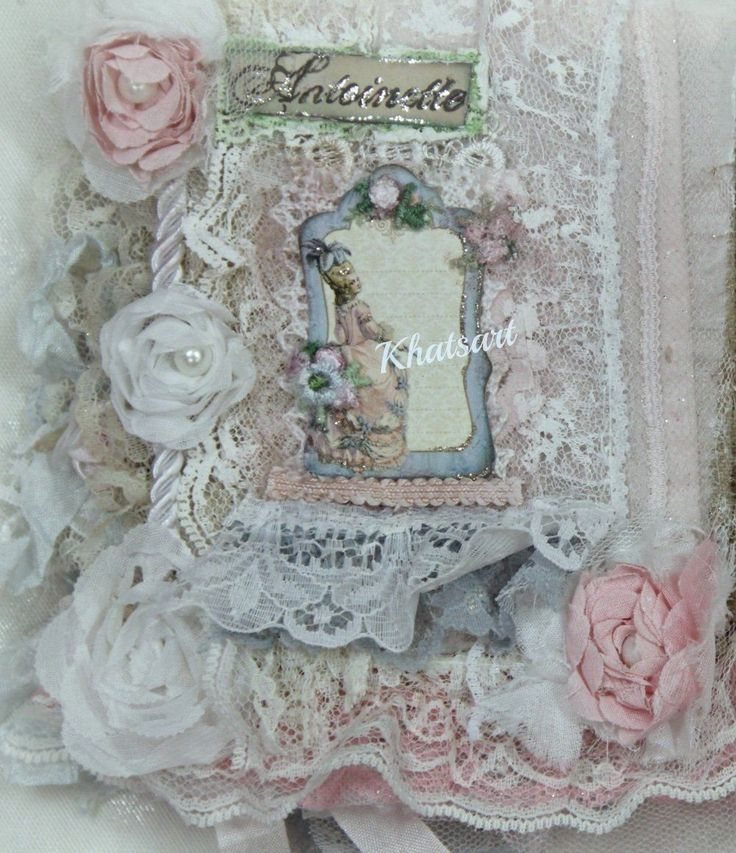 PRINCESS MARIA ANTOINETTE Fabric Collage Book Album Journal VINTAGE COLLAGE BOOKE PREMADE SCRAPBOOK ALBUM MIXED MEDIA FABRIC ELITE4U KHATSART     http://www.ebay.com/sch/merchant/khatsart4