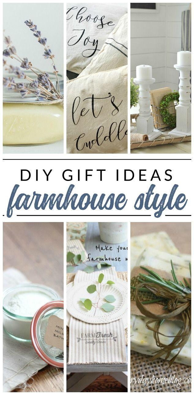 Diy Farmhouse Gifts 10 Handmade Gift Ideas With Farmhouse Style Handmade Home Decor Handmade Gifts Diy Handmade Home
