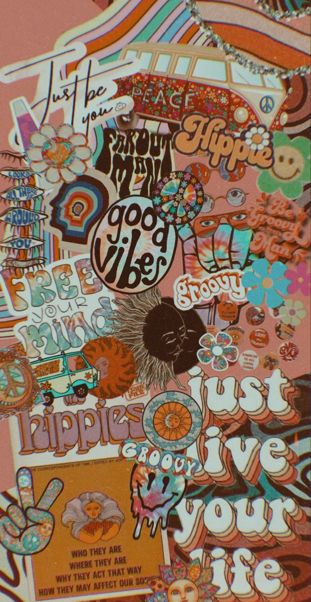 Hippie Mood Board Hippie Wallpaper Iphone Wallpaper Girly Retro Wallpaper Iphone